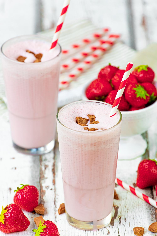Fotografie jídla a nápojů pro restaurace a hotely | Jahodový shake